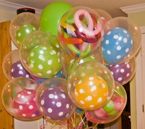Balloon in a balloon bouquet